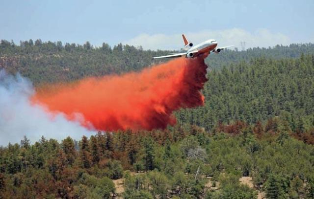 DC 10 over Black Forest Fire